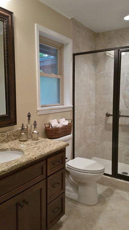 beige bathroom designs 2018 traditional 3 4 bathroom with kensington series beige porcelain tile high ceiling flat panel