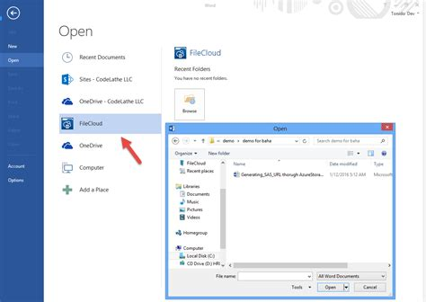 Office 365 Outlook Integration Filecloud Microsoft Office Apps Outlook Integration