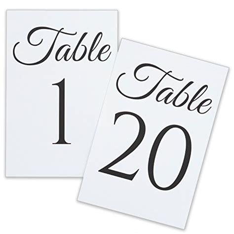 items similar to 4x6 table numbers printable wedding table numbers 1 to 20 4x6 flat cards wedding table