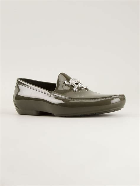 mens skull loafers vivienne westwood skull loafers in green for lyst
