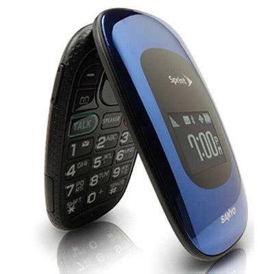 sanyo vero scp  large keypad flip sprint cell phone
