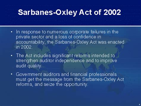 sarbanes oxley act of 2002 section 404 u s gao sarbanes oxley act of 2002