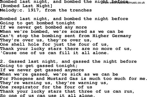 The Last American Lyrics American Song Lyrics For Bombed Last And Bombed The Before With Pdf
