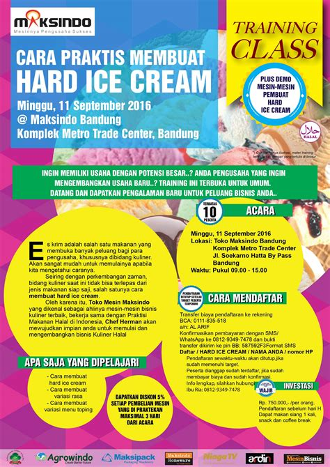 membuka usaha ice cream training usaha hard ice cream di bandung 11 september