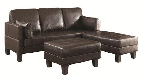 sofa bed ottoman contemporary sofa bed brown 2 ottomans