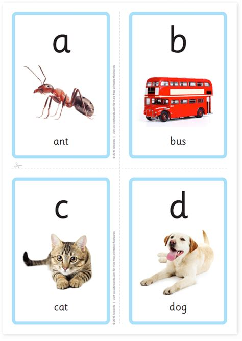 printable lowercase alphabet flashcards with pictures free alphabet flashcards for kids totcards