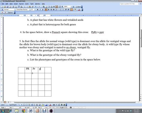 Chapter 6 Dihybrid Cross Worksheet Answer Key by Dihybrid Cross Practice Worksheet