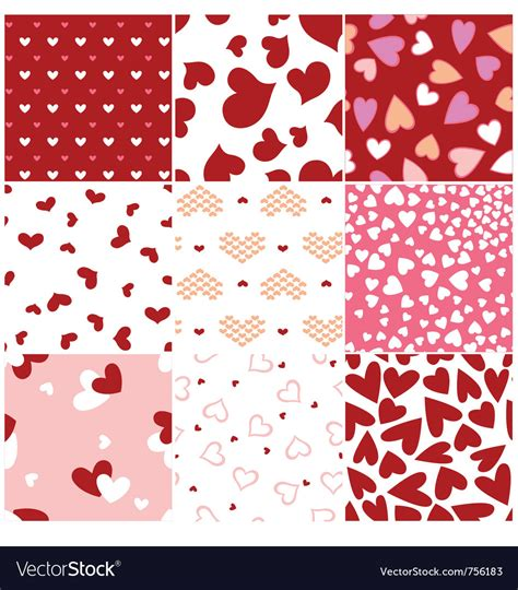stylish heart design royalty free fashion heart seamless pattern royalty free vector image