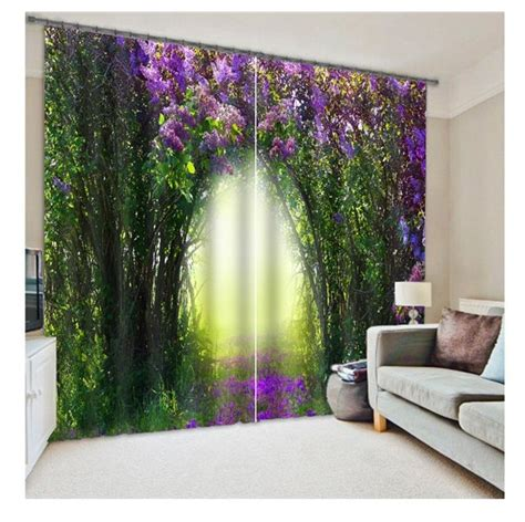 floral curtains for living room blackout curtains 3d curtain set for bedroom living room