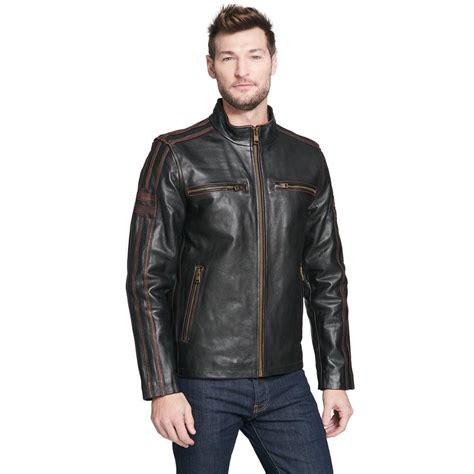 leather cycle jacket black rivet mens antique leather cycle jacket