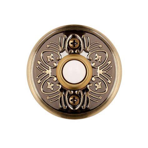 Bel Pintu Kuningan Brass Doorbell hton bay wired lighted door bell push button aged brass hb 628 02 the home depot