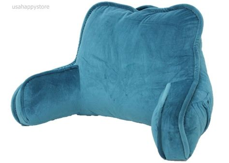 pillow back bed rest reading pillow arms plush polyester fabric back