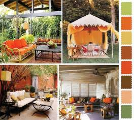 Outdoor Decor Ideas by 5 Outdoor Home Decorating Color Schemes And Patio Ideas
