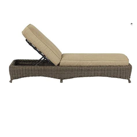 Gray Chaise Lounge Martha Stewart Living Lake Adela Weathered Gray Patio Chaise Lounge With Sand Cushions