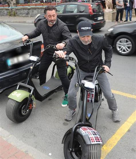 cem yilmazin bindigi elektrikli bisiklet teferruattan