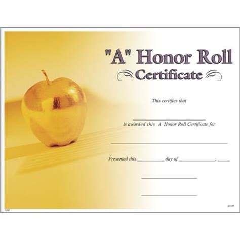 a b honor roll certificate template a honor roll certificates photo a honor roll certificate