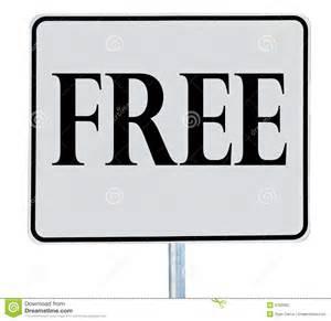 Free sign stock photo image 9100930