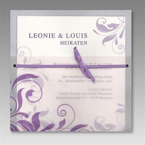 Einladung Hochzeit Einsteckkarte by Einladung Zur Hochzeit Im Transparentdesign Mit Ornamenten