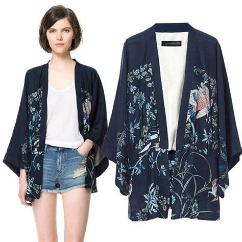 Kimono Harukaouterwear Hitamcardigan Wanita Modernal aplikasi kimono pada busana modern