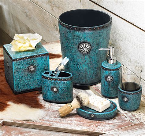 turquoise home decor accessories teal blue bathroom accessories folat