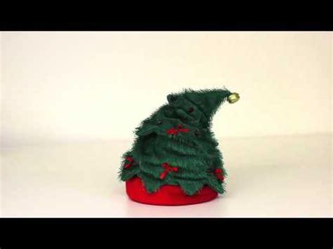 readyforchristmas christmas tree hat waving and singing
