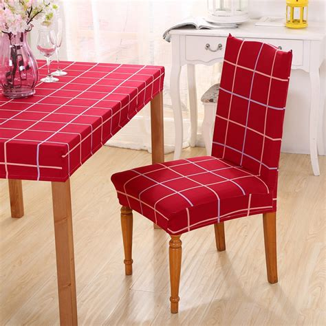 red dining room chair covers compare prices on red dining room chair covers online