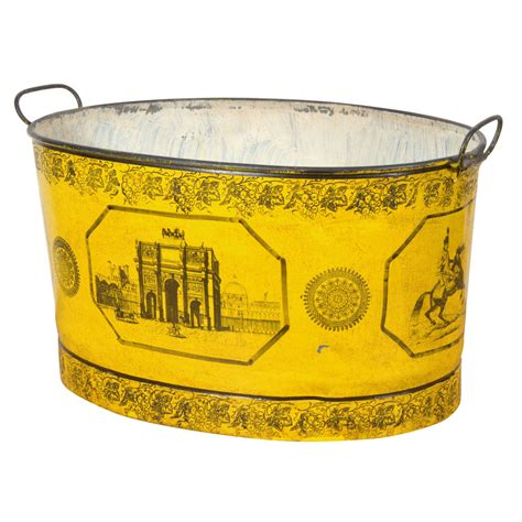 Tole Planter by Empire Tole Mustard Colored Planter For Sale At 1stdibs