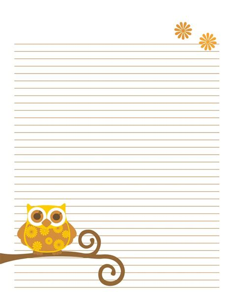 printable stationery owls pinterest the world s catalog of ideas