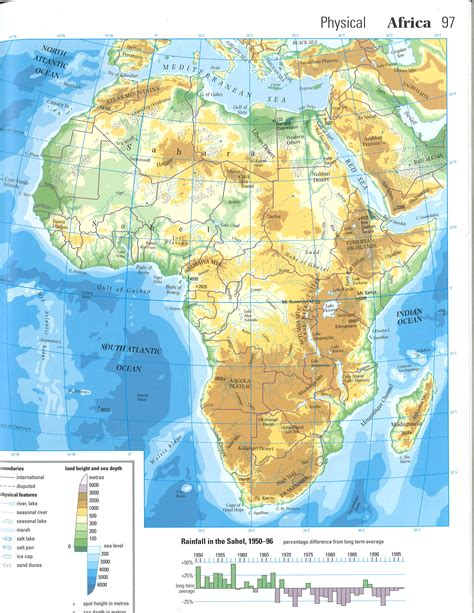 unit 6 africa physical map answers 4 2 i can identify the political and physical features of