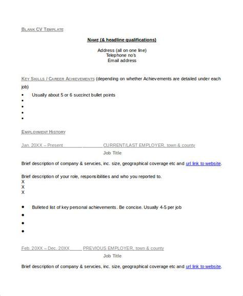 curriculum vitae empty format 36 sle cv templates pdf doc free premium templates