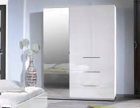 White Wardrobe Sciae Contemporary High Gloss White Wardrobe
