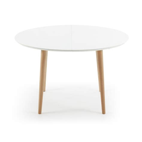 Extendable Wooden Dining Table With White Top Ian White Dining Table With Wood Top