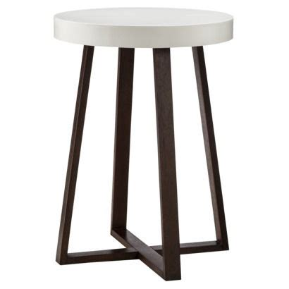 nursery accent table threshold accent table triangle with white top espresso