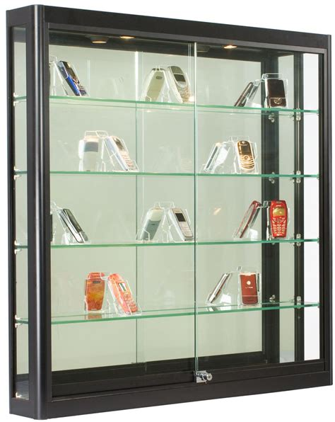 wall mounted display cabinets with glass doors wall display case black finish ships fully assembled