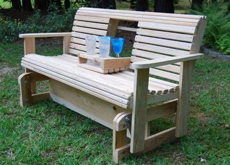 outdoor wooden glider swing google search yard benches