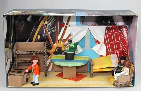wohnung im schuhkarton basteln diorama wohnwelten im schuhkarton