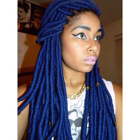 dreadlocks and weave combined together for a bang hairstyle 90 best faux locs images on pinterest hair dos