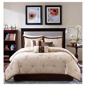 ramsey 7 embroidered microsuede comforter set