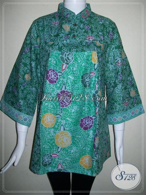 Blus Rok Batik Warna Kode Ba5281 blus batik kerja wanita model modern baju batik wanita