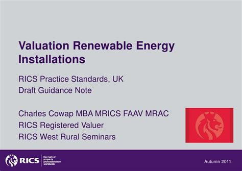 Mba Sustainable Energy Management by Renewable Energy Valuation Briefing