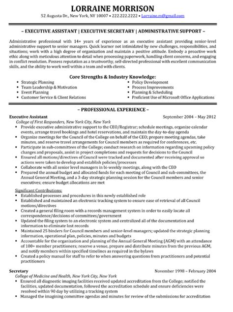 business executive resume sle professional assistant resume sales assistant lewesmr