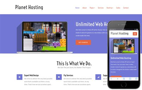 Digital Hosting A Web Hosting Flat Bootstrap Responsive Web Template Digital Marketing Responsive Website Template Free