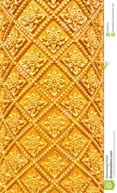 golden thai pattern pillar royalty  stock photography