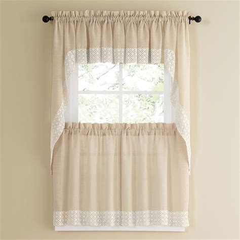 white kitchen curtains valances vanilla country style curtain parts with white lace accent tier swag and valance