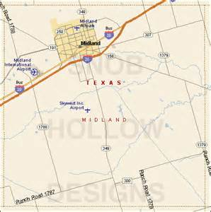 midland county map midland county color map