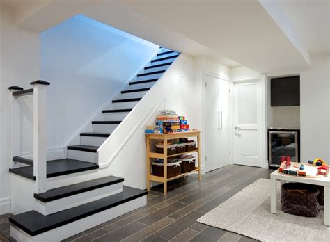 How To Install Ceramic Floor Tile In Kitchen - my houzz modern annex renovation contemporary staircase toronto by andrew snow photography
