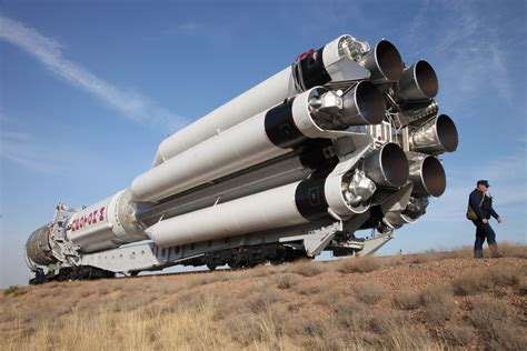 Russian Proton Rocket by Russian Proton Rocket Set To Deploy Telecom Satellite For