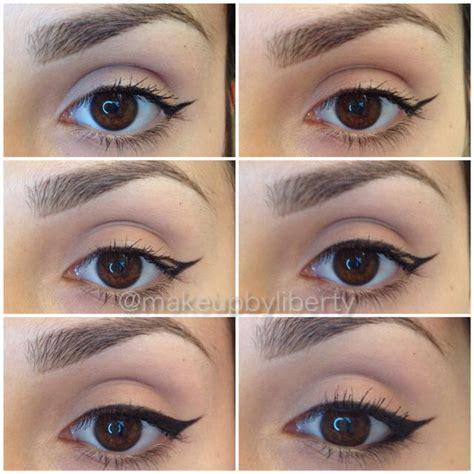 eyeliner tutorial gel liner winged eyeliner pictorial tutorial maybelline eyestudio