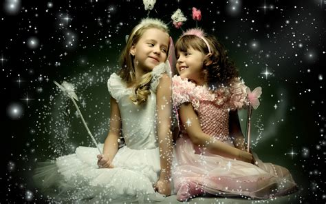 two beautiful little girl with wings wallpapers 2560x1600 1027373