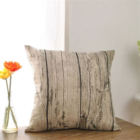 throw pillows for bed decorating vintage rustic wood pillowcase sofa bed decor throw pillow